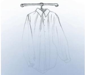 Hemd in Wasserdampf